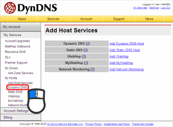 Add Host Services