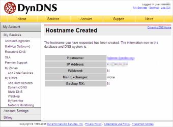 Hostname Created